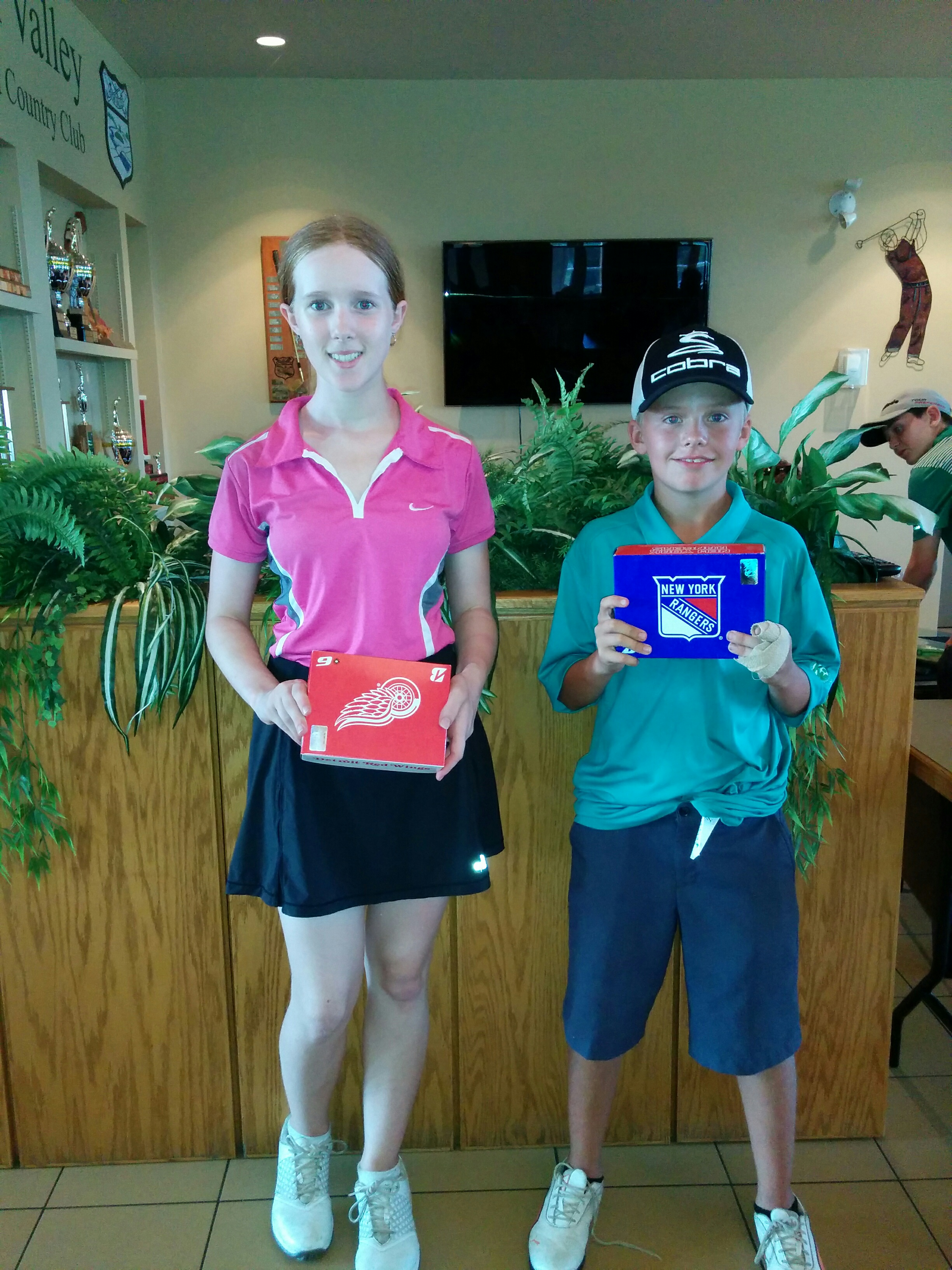 MIRANDA COOK 2ND PEEWEE GIRLS DIV. ASHBURN GAVIN YVES 2ND PEEWEE BOYS DIV. GLEN LOVETT